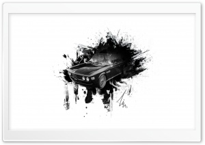 BMW E9 COUPE Ink-Splatter HD Wide Wallpaper for Widescreen
