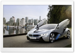 BMW i8 Open Doors HD Wide Wallpaper for Widescreen