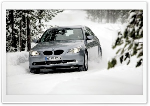 BMW In The Snow HD Wide Wallpaper for Widescreen