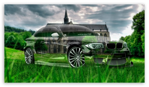 BMW M1 Tuning 3D Crystal Nature Car 2015 Design By Tony Kokhan ❤ 4K UHD  Wallpaper