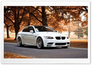 BMW M3 Autumn HD Wide Wallpaper for Widescreen