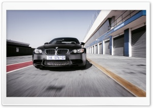 BMW M3 Black On Race Track HD Wide Wallpaper for 4K UHD Widescreen desktop & smartphone