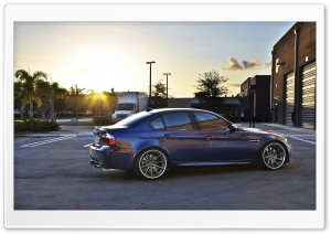BMW M3 Blue HD Wide Wallpaper for Widescreen