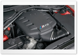 BMW M3 V8 Engine HD Wide Wallpaper for Widescreen