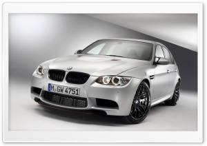 BMW M3 White Front HD Wide Wallpaper for Widescreen