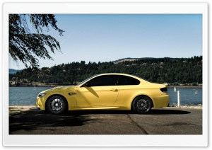 BMW M3 Yellow HD Wide Wallpaper for Widescreen
