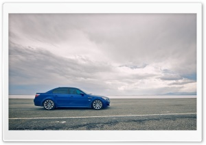 BMW M5 Blue HD Wide Wallpaper for Widescreen
