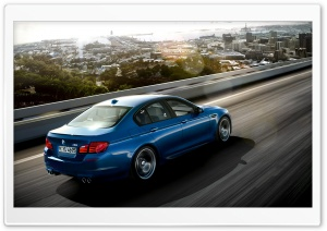 BMW M5 Blue Ride HD Wide Wallpaper for Widescreen