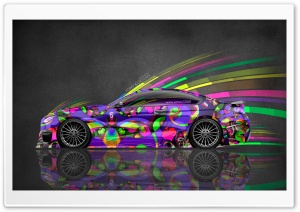 BMW M6 Super Abstract Car 2015 design by Tony Kokhan HD Wide Wallpaper for 4K UHD Widescreen desktop & smartphone