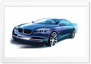 BMW Sketch HD Wide Wallpaper for Widescreen