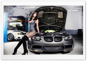 BMW Tune Girl HD Wide Wallpaper for Widescreen