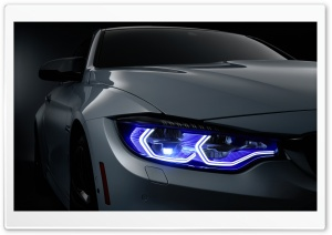 BMW Xenon Headlights HD Wide Wallpaper for Widescreen