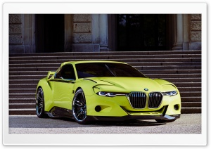 BMW Yellow Concept Car HD Wide Wallpaper for Widescreen