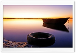Boat And Tire HD Wide Wallpaper for Widescreen