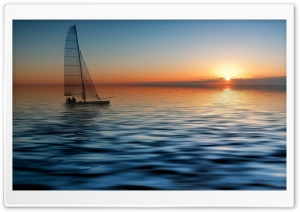 Boat At Sea HD Wide Wallpaper for Widescreen