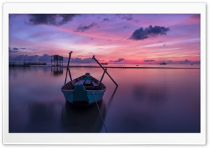 Boat at Sunrise HD Wide Wallpaper for 4K UHD Widescreen desktop & smartphone
