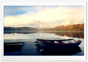 Boat, Autumn HD Wide Wallpaper for Widescreen