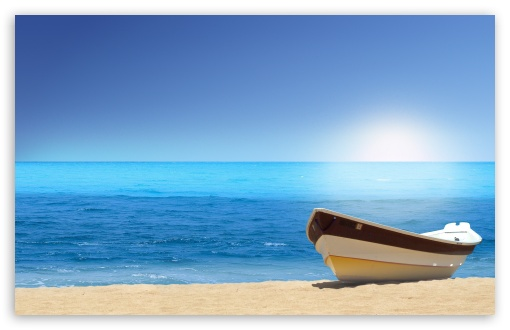 Boat On The Beach Sunny Day HD wallpaper for Wide 16:10 5:3 Widescreen WHXGA WQXGA WUXGA WXGA WGA ; HD 16:9 High Definition WQHD QWXGA 1080p 900p 720p QHD nHD ; Standard 4:3 5:4 3:2 Fullscreen UXGA XGA SVGA QSXGA SXGA DVGA HVGA HQVGA devices ( Apple PowerBook G4 iPhone 4 3G 3GS iPod Touch ) ; Tablet 1:1 ; iPad 1/2/Mini ; Mobile 4:3 5:3 3:2 16:9 5:4 - UXGA XGA SVGA WGA DVGA HVGA HQVGA devices ( Apple PowerBook G4 iPhone 4 3G 3GS iPod Touch ) WQHD QWXGA 1080p 900p 720p QHD nHD QSXGA SXGA ;