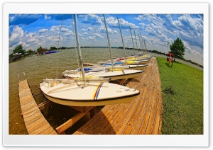Boat Pier HD Wide Wallpaper for Widescreen