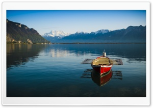 Boat Reflection HD Wide Wallpaper for Widescreen