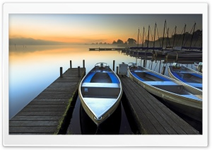 Boat Sunrise HD Wide Wallpaper for 4K UHD Widescreen desktop & smartphone