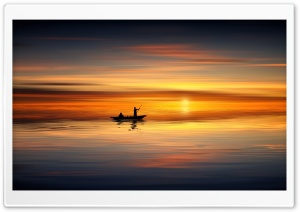 Boating, Sunset Ultra HD Wallpaper for 4K UHD Widescreen desktop, tablet & smartphone