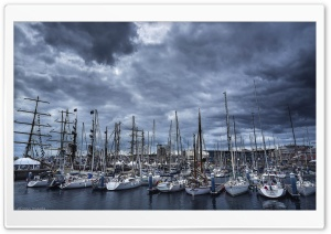 Boats Harbour HD Wide Wallpaper for Widescreen