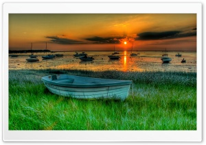 Boats HDR HD Wide Wallpaper for Widescreen