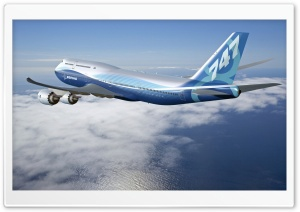 Boeing 747 8 Intercontinental HD Wide Wallpaper for 4K UHD Widescreen desktop & smartphone