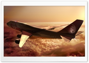 Boeing 747 Airplane HD Wide Wallpaper for Widescreen