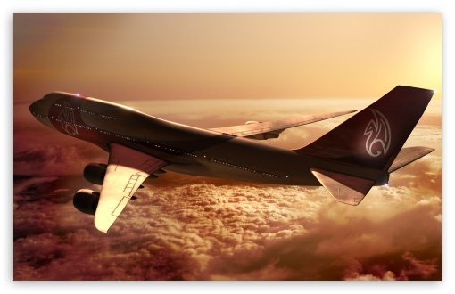 Boeing 747 Airplane HD wallpaper for Wide 16:10 5:3 Widescreen WHXGA WQXGA WUXGA WXGA WGA ; HD 16:9 High Definition WQHD QWXGA 1080p 900p 720p QHD nHD ; Mobile 5:3 16:9 - WGA WQHD QWXGA 1080p 900p 720p QHD nHD ;