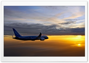 Boeing 787 Aerial HD Wide Wallpaper for 4K UHD Widescreen desktop & smartphone