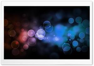 Bokeh, Black Background HD Wide Wallpaper for Widescreen