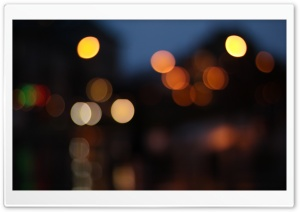 Bokeh Lights HD Wide Wallpaper for Widescreen