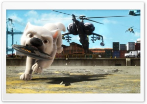 Bolt Running With Bomb In Mouth HD Wide Wallpaper for Widescreen