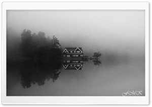 Bolu Golcuk Lake Black White Ultra HD Wallpaper for 4K UHD Widescreen desktop, tablet & smartphone