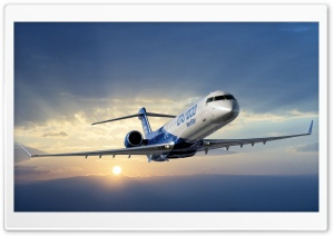 Bombardier Crj 1000 Aircraft HD Wide Wallpaper for Widescreen