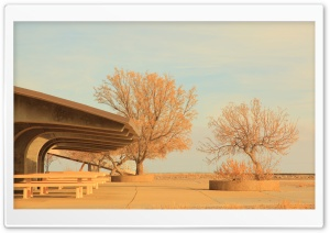 Bonneville Salt Flats Rest Area, Utah HD Wide Wallpaper for Widescreen
