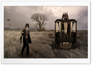 Bonny and Clyde steampunk HD Wide Wallpaper for 4K UHD Widescreen desktop & smartphone