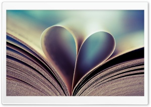 Book Heart HD Wide Wallpaper for Widescreen
