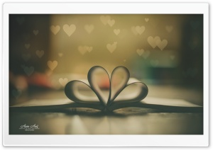 Book of Love Retro HD Wide Wallpaper for Widescreen