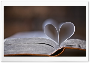 Book Pages Heart HD Wide Wallpaper for Widescreen