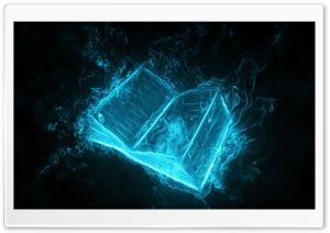Book Wallpaper - Blue HD Wide Wallpaper for Widescreen