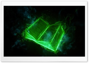Book Wallpaper - Green HD Wide Wallpaper for Widescreen