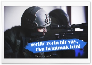 Bora-12 and Turkish Soldier HD Wide Wallpaper for Widescreen