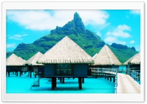 Bora Bora Resort HD Wide Wallpaper for Widescreen