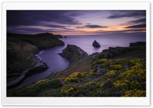 Boscastle Coast View, Sunset Ultra HD Wallpaper for 4K UHD Widescreen desktop, tablet & smartphone