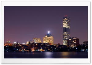 Boston Skyline HD Wide Wallpaper for Widescreen