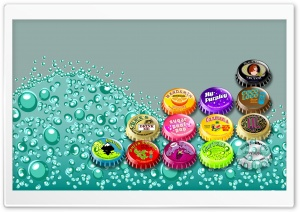 Bottle Caps Ultra HD Wallpaper for 4K UHD Widescreen desktop, tablet & smartphone