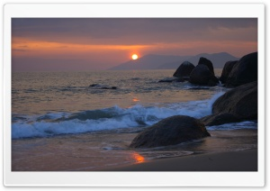 Boulders On The Beach HD Wide Wallpaper for Widescreen